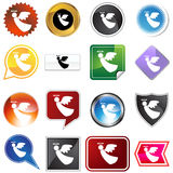 Multiple Buttons - Angel Royalty Free Stock Photos