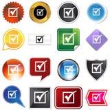 Multiple Buttons - Checkmark Stock Photos