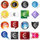 Multiple Buttons - Euro Stock Image