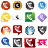 Multiple Buttons - Harp. A set of 16 icon buttons in different shapes and colors - harp Vector Illustration
