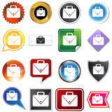 Multiple Buttons - Office Briefcase Royalty Free Stock Images