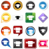 Multiple Buttons - Roll of Toilet Paper. A set of 16 icon buttons in different shapes and colors - roll of toilet paper royalty free illustration