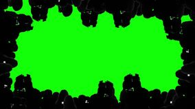 Multiple camera operators, photographers, reporters covering event, green screen. Stock footage stock footage