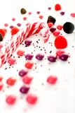 Multiple candies collection on white Stock Image