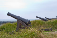 Multiple canons Royalty Free Stock Image