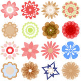 Multiple  cartoon flowers Royalty Free Stock Image