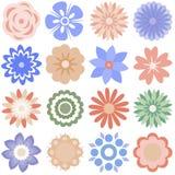 Multiple cartoon flowers Stock Photos