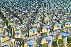 Multiple chairs outdoor, many chairs Royalty Free Stock Photography