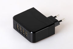 Multiple charger for smart phones Stock Image