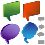 Multiple Chat Icons. Set of 3D multiple chat icons Stock Photo