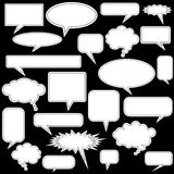 Multiple Chat Icons - black and white Royalty Free Stock Images