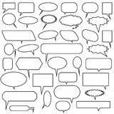Multiple Chat Icons - black and white stock illustration