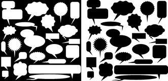 Multiple Chat Icons - black and white Royalty Free Stock Photography