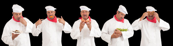 Multiple Chef Personalities Royalty Free Stock Photography