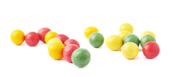 Multiple chewing gum balls isolated Stock Photo