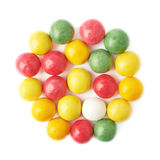 Multiple chewing gum balls isolated Royalty Free Stock Images