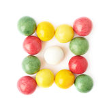Multiple chewing gum balls isolated Stock Image