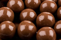 Multiple chocolate ball candies Stock Photo