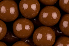 Multiple chocolate ball candies Royalty Free Stock Photos