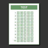 Multiple Choice Blank nswer Sheet. Vector Royalty Free Stock Images
