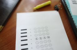 Multiple choice exam Stock Photography