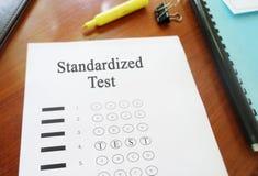 Multiple choice standardized test Stock Image