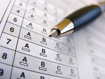 Multiple Choice Test Stock Images
