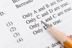 Multiple-Choice Tests Royalty Free Stock Photography