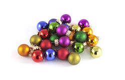 Multiple christmas balls Stock Images