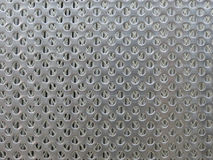 Multiple circular hole metal mesh background Royalty Free Stock Photography