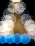 Multiple color of bokeh on black background Royalty Free Stock Photo