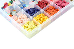 Multiple color buttons focus corner Stock Image