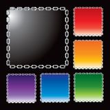 Multiple color chain frames. Multiple color and size frames made of chain link Stock Image