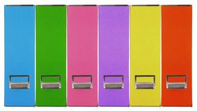 Multiple color magazine grain paper box Royalty Free Stock Images