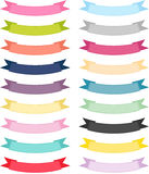 Multiple Color Ribbon Banner Stock Image