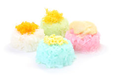 Multiple color of sticky rice with seed custard Stock Images