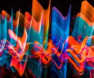 Multiple colored abstract lights in motion. Royalty Free Stock Photo
