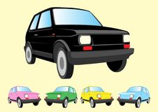Multiple colored mini cars Royalty Free Stock Photo