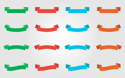 Multiple Colored Ribbons. Simple colored ribbons for web design Stock Photography