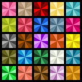 Multiple colored square diamond Royalty Free Stock Photography