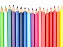 Colorful pencils on white background Royalty Free Stock Images