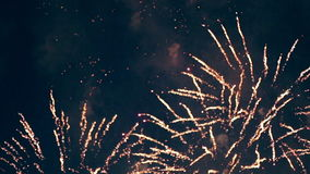 Multiple colorfull fireworks. stock footage