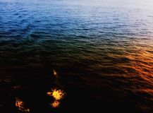 Multiple colors sea. View Royalty Free Stock Photos