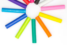 Multiple colours playing child's playing clay Royalty Free Stock Photo