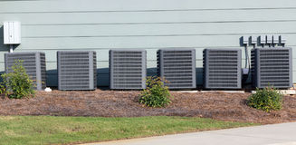Multiple Commercial Air Conditioning Units Royalty Free Stock Image