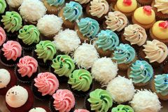 Multiple Cupcakes Stock Images