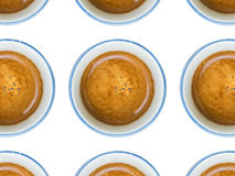 Multiple cups of coffee. With cream Stock Image