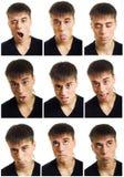 multiple d'homme de visage d'expression photo stock