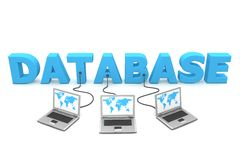multiple de base de données à de câble Photographie stock