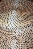 Multiple de Fibonacci contrastant les tapis en spirale formés d'herbe sèche Image stock